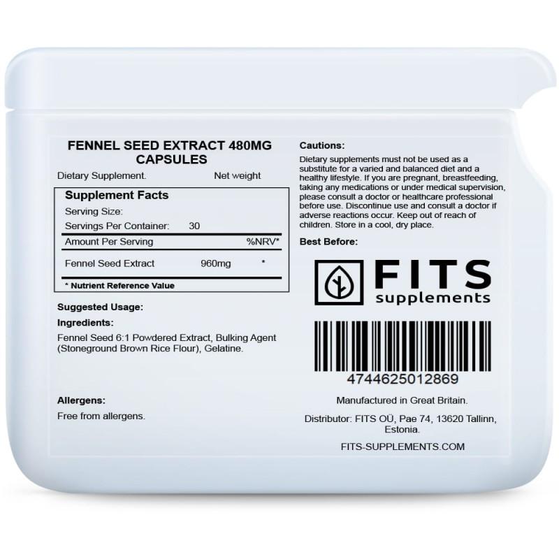 FITS Fennel Seed Extract  (Apteegitill) 480 mg kapslid foto