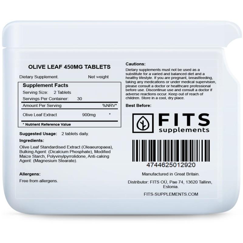 FITS Oliivilehe 450 mg tabletid foto
