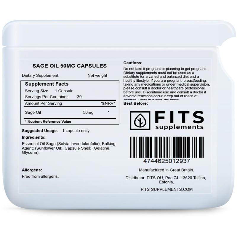 Salveiõli 50 mg kapslid Ravimtaimed ja ekstraktid foto