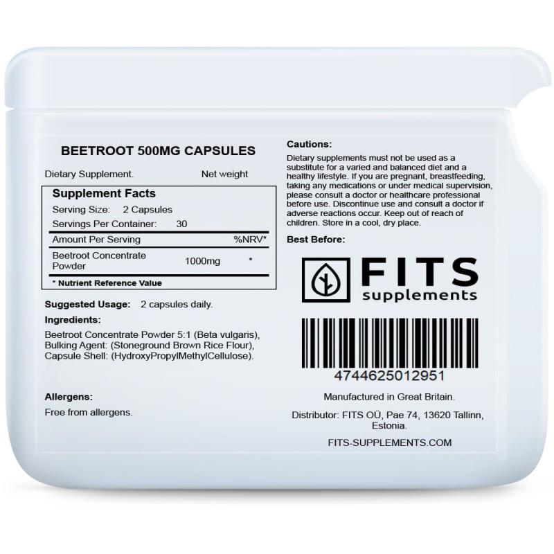 FITS Punapeedi 500 mg kapslid foto