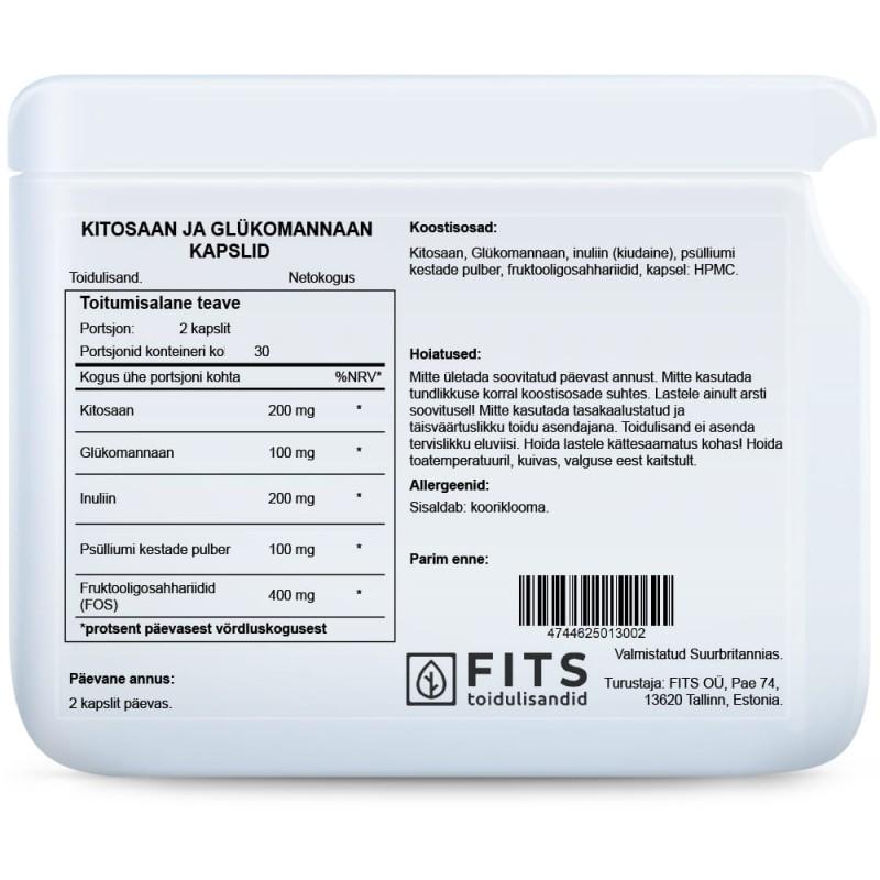 Kitosaan & Glükomannaan kapslid