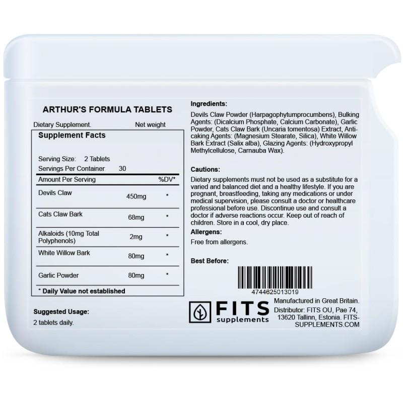 FITS Arthur's Formula liigestele tabletid foto
