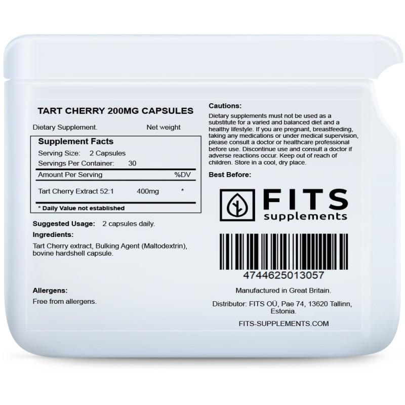 FITS Tart Cherry 200 mg kapslid foto
