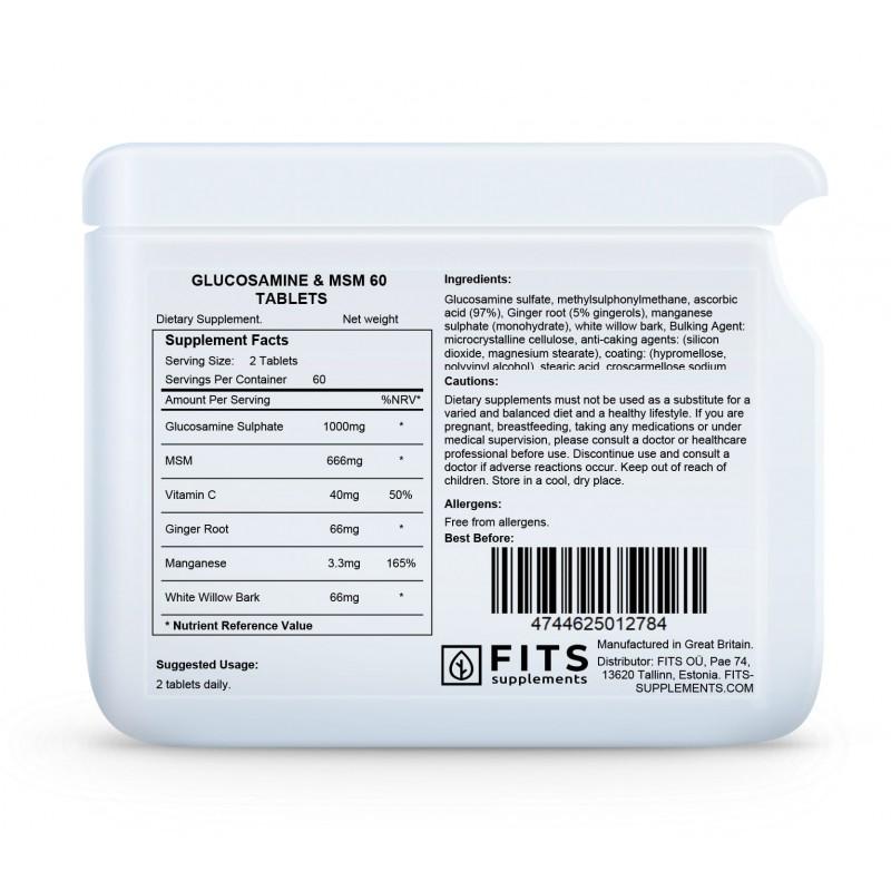 FITS Glükoosamiin ja MSM tabletid foto