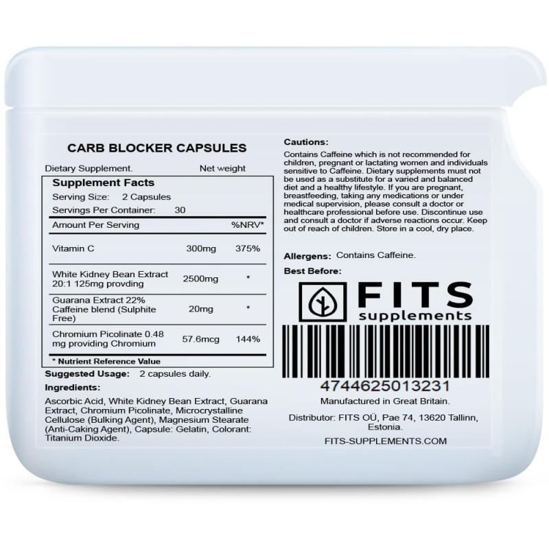 FITS Carb Blocker kapslid süsivesikute blokaator foto