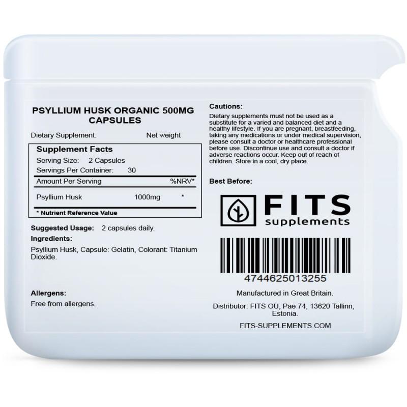 FITS Psülliumi 500 mg kapslid foto