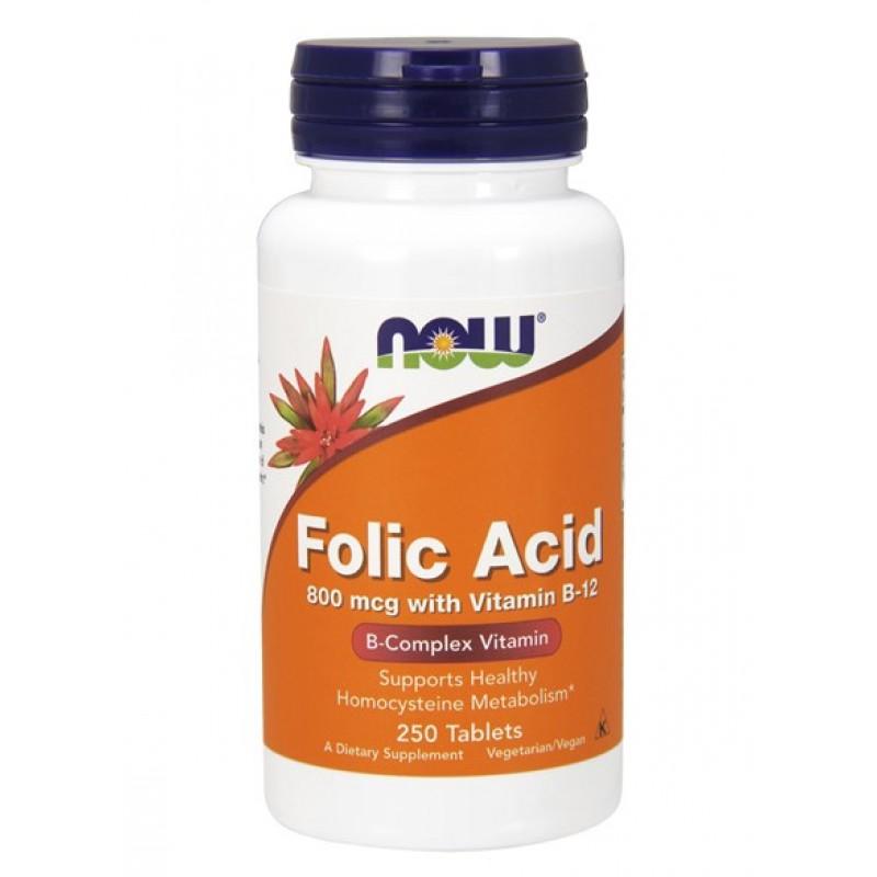 NOW Folic Acid 250tab foolhape